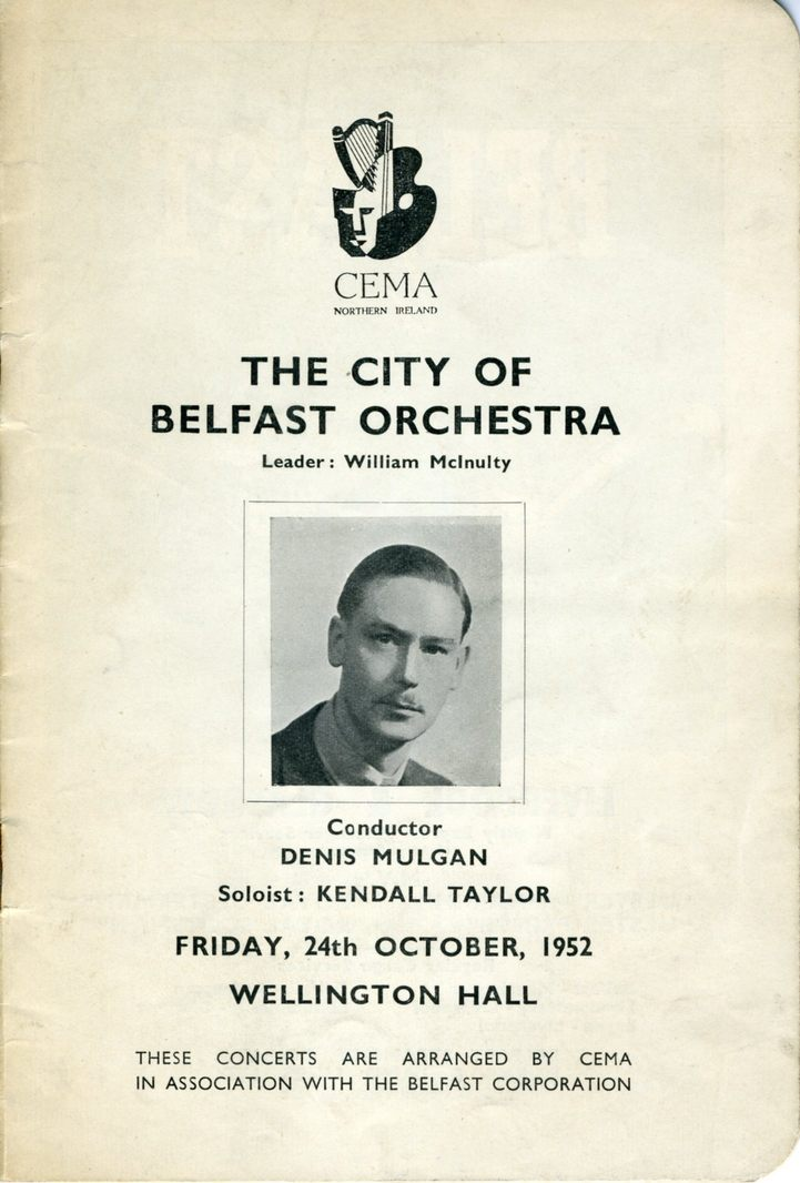 CBO programme cover, Oct. 1952