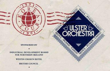 Ulster Orchestra Korea Tour 1991