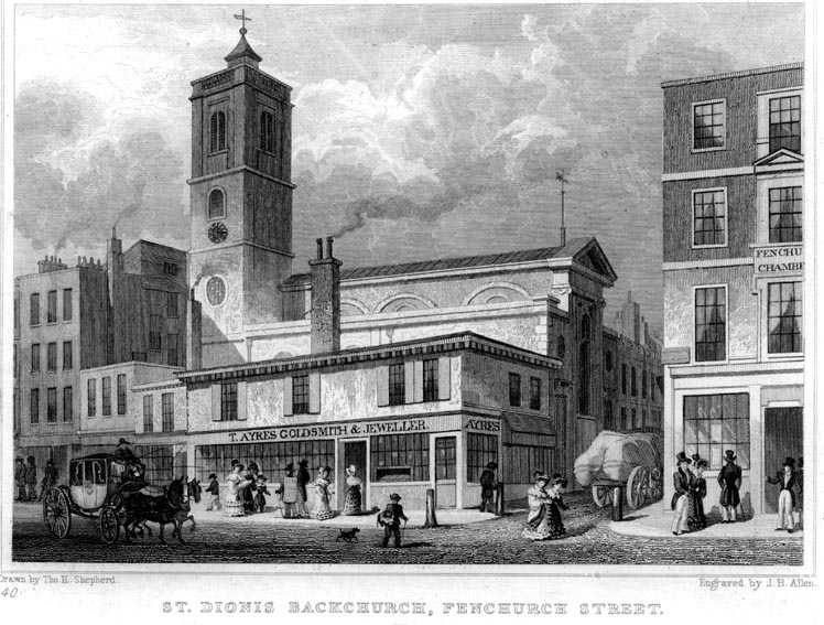 St Dionis, Backchurch, London