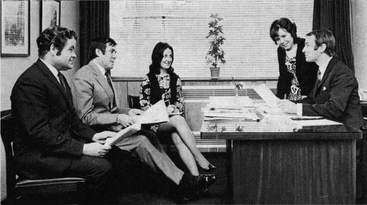Ulster Orchestra Administrative Staff c1971