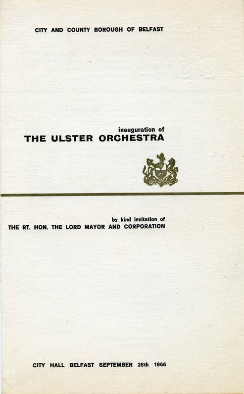 Ulster Orchestra Inauguration Concert