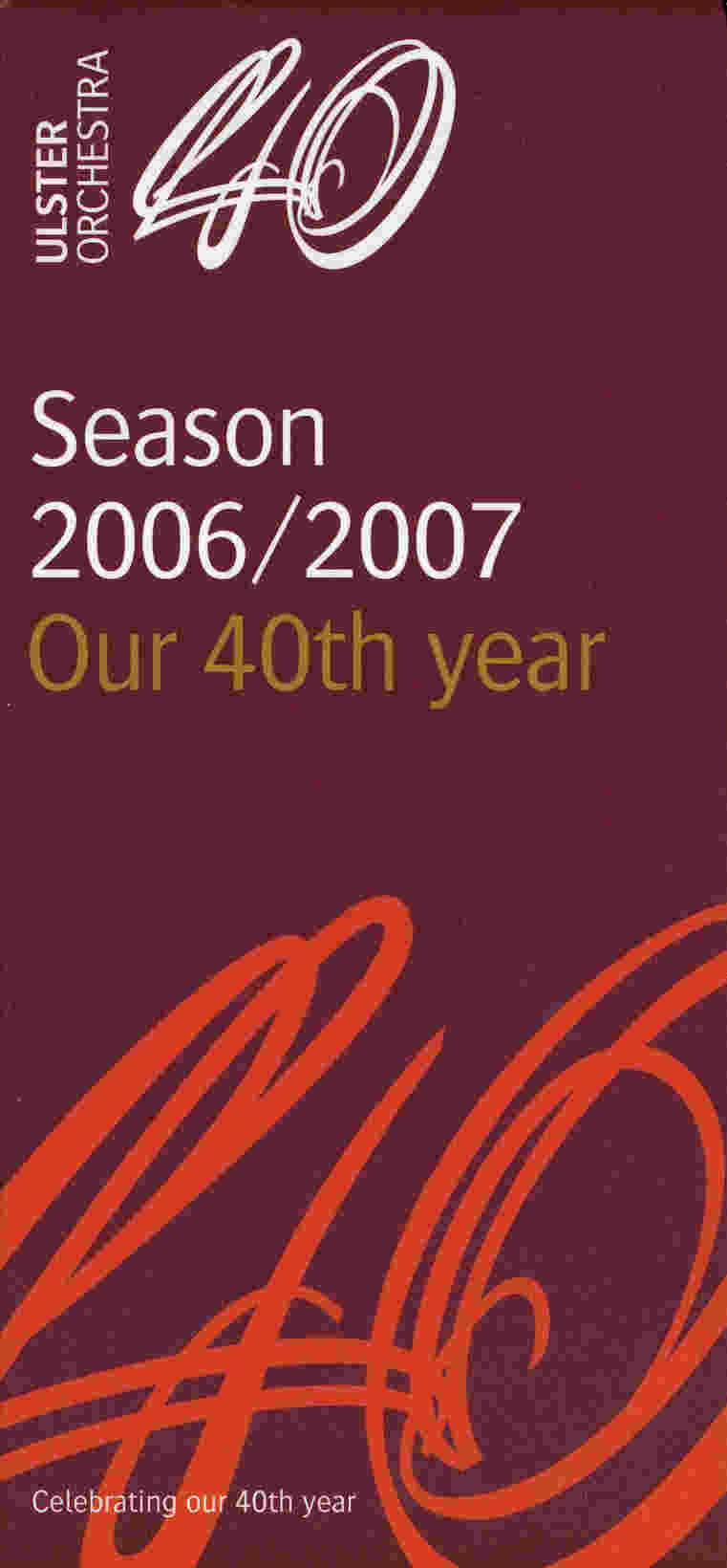 Ulster Orchestra season cover 2006-2007