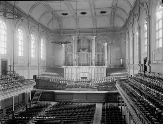 Ulster Hall interior perhaps c1864