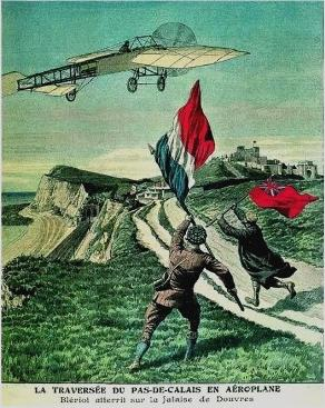 Louis Bleriot lands at Dover, 1909
