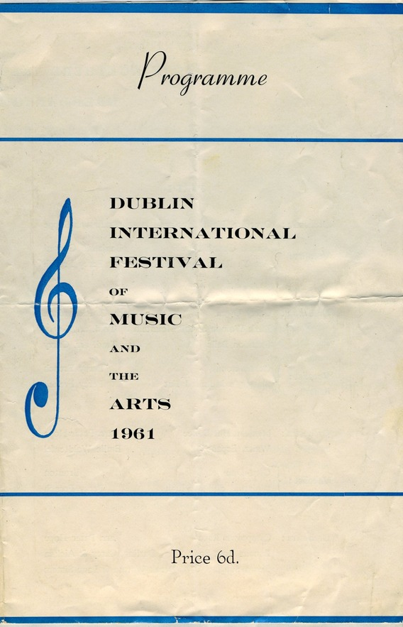 Dublin International Festival of Music and the Arts, 1961