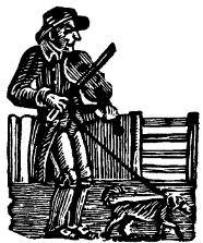 Fiddle player - late 18th century woodcut