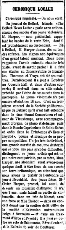 Neuchatel newspaper 17 March 1904