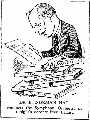 Norman Hay caricature from Radio Times