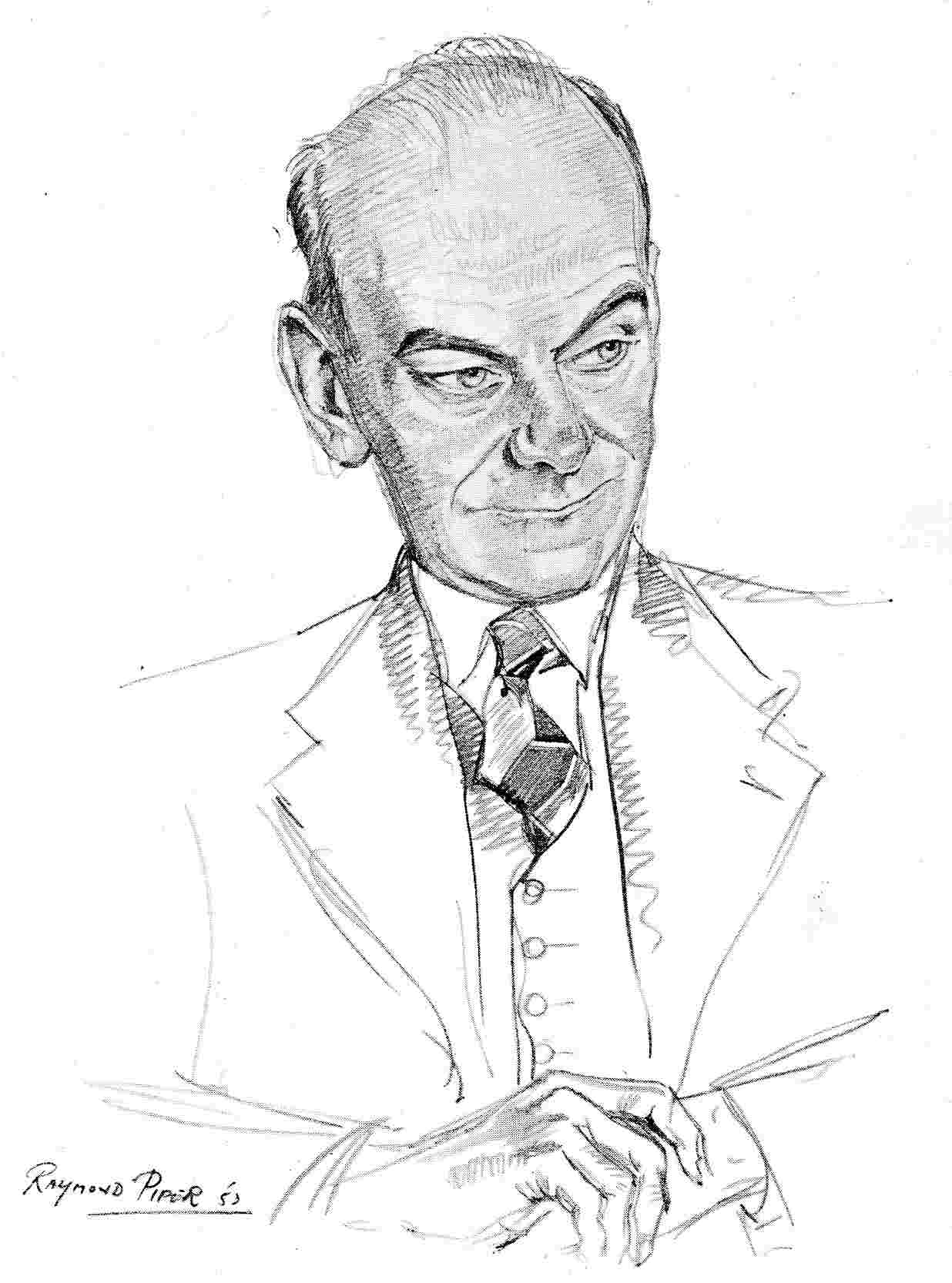 Raymond Piper's sketch of David Curry, 1953