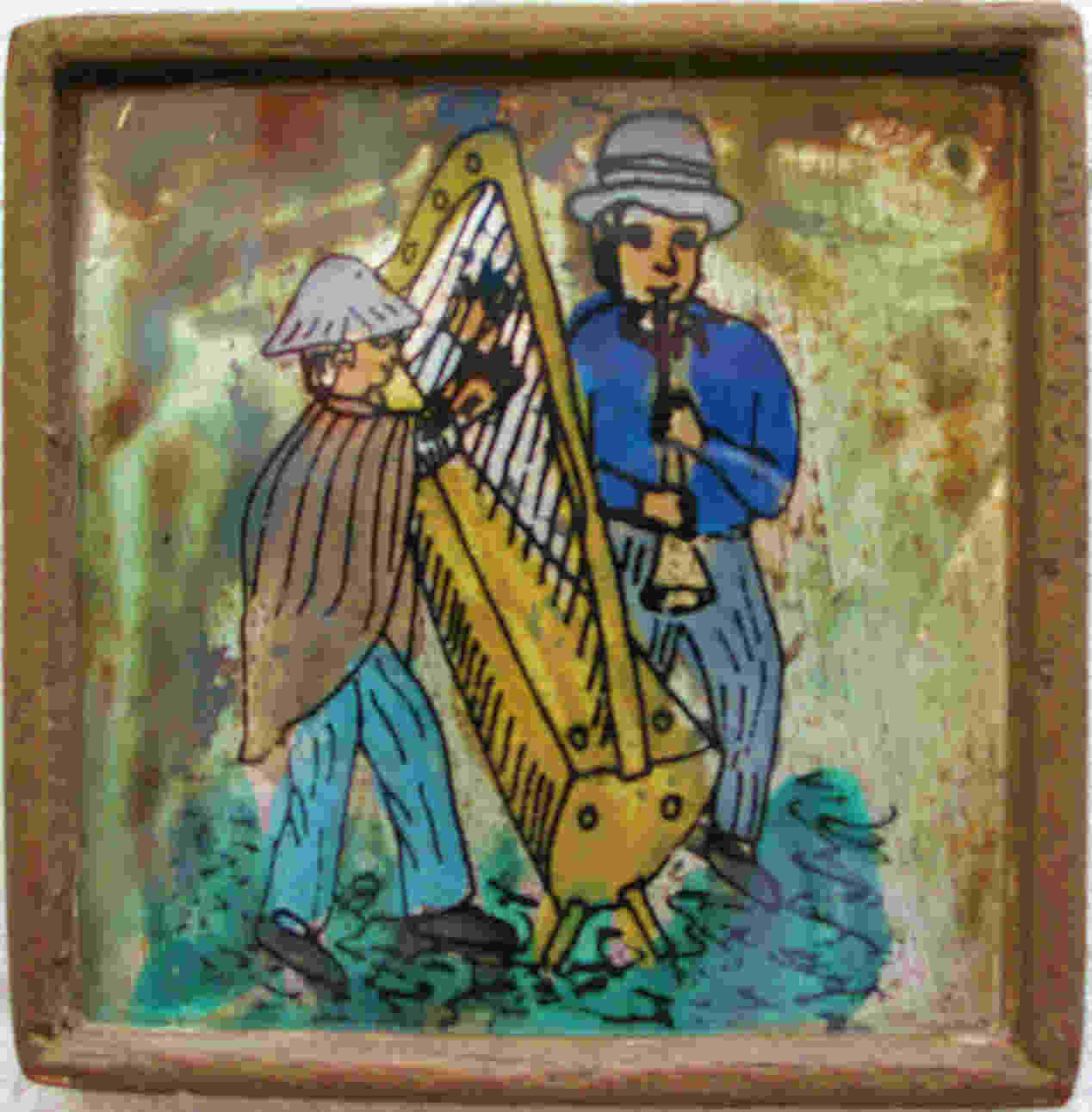 Painting on glass from Peru