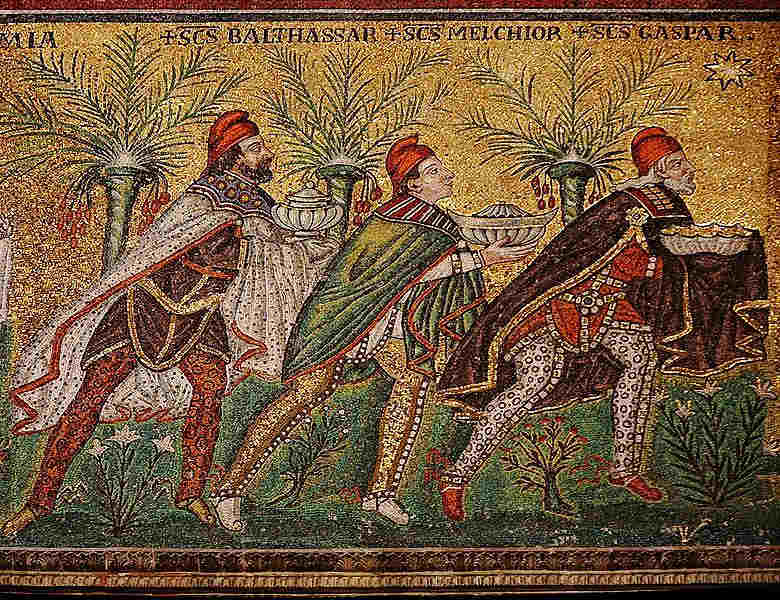 Mosaic detail for Byers Journey of the Magi