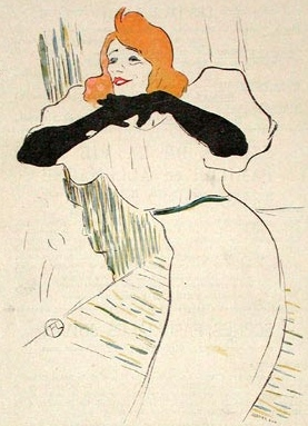 Yvette Guilbert by Toulouse Lautrec